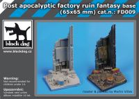 FD009 Post apocalyptic factory ruin fant.base Blackdog