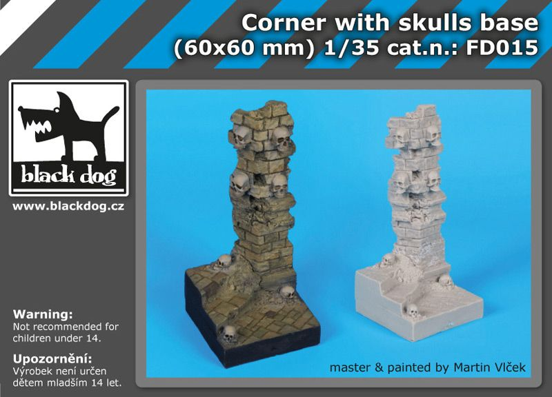 FD015 Corner with skulls base Blackdog