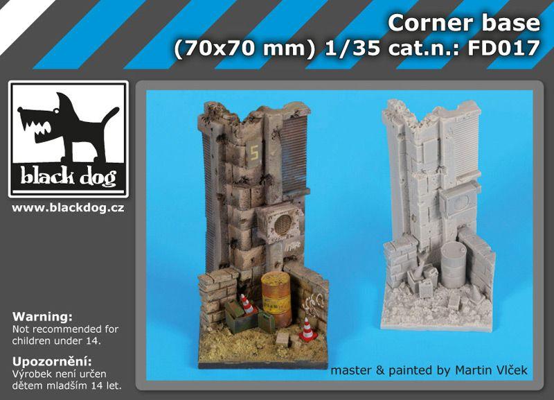 FD017 Corner base Blackdog