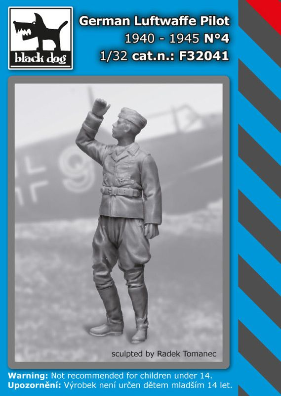 F32041 1/32 German Luftwaffe pilot N°4 1940-1945 Blackdog