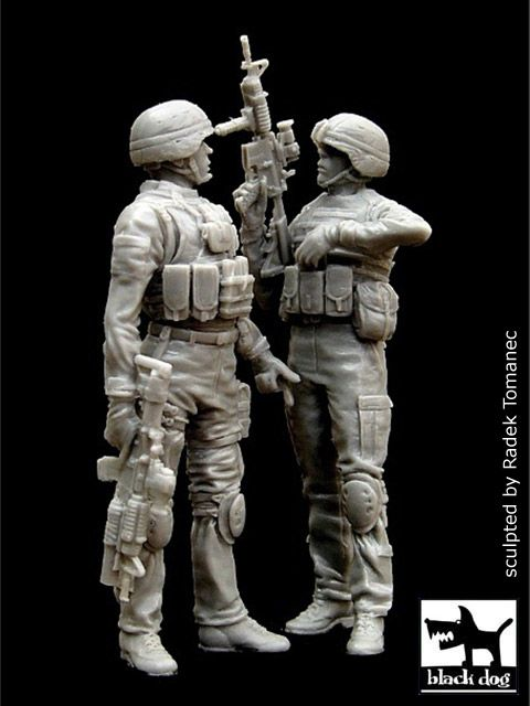 F35006 1/35 US soldiers in Iraq set Blackdog