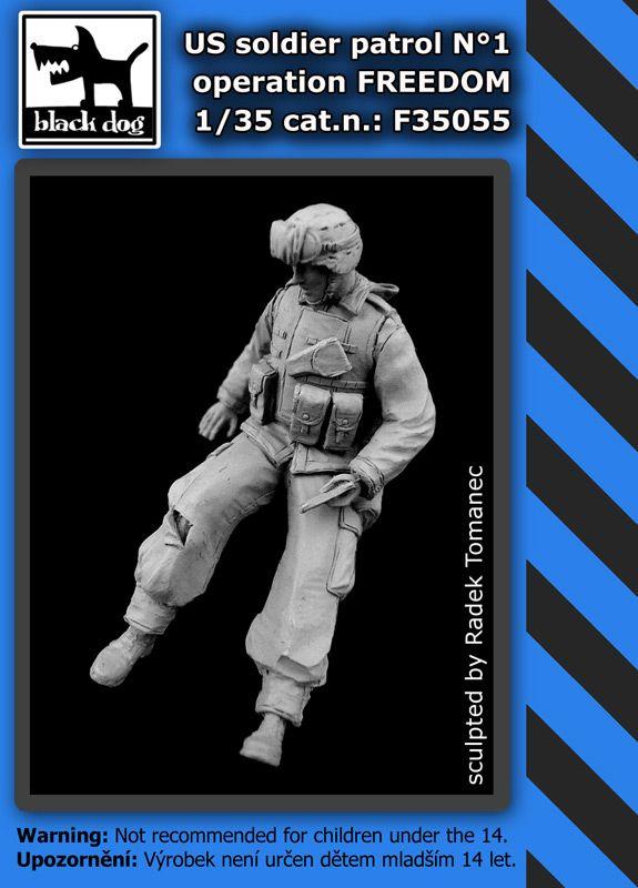 F35055 1/35 US soldier patrol operation FREEDOM N°1 Blackdog