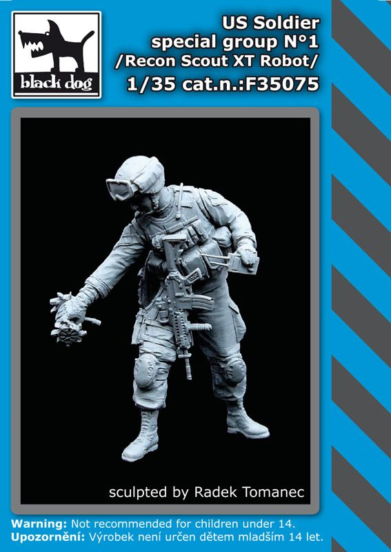 F35075 1/35 US soldier special group N°1 Blackdog