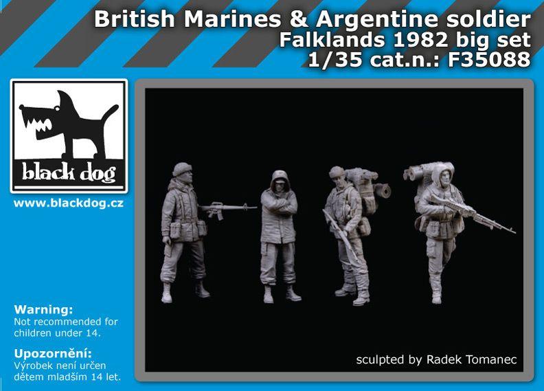 F35088 1/35 British Marinesplus Argentine soldier big set Blackdog