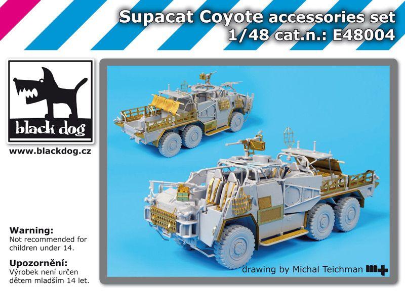 E48004 1/48 Supacat Coyote accessories set Blackdog