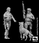 F35134 1/35 US woman + soldier with dog Blackdog