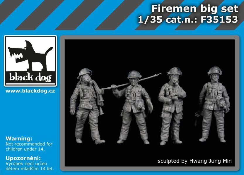 F35153 1/35 Firemen big set Blackdog