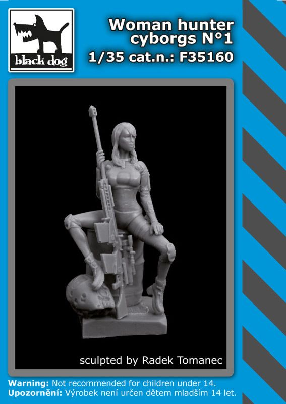 F35160 1/35 Woman hunter cyborgs N°1 Blackdog