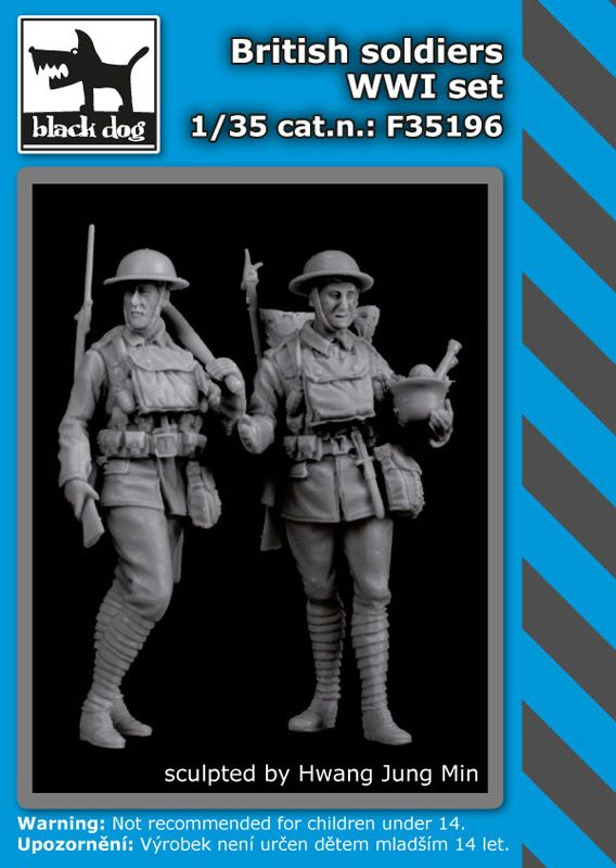 F35196 1/35 British soldiers WWI set Blackdog