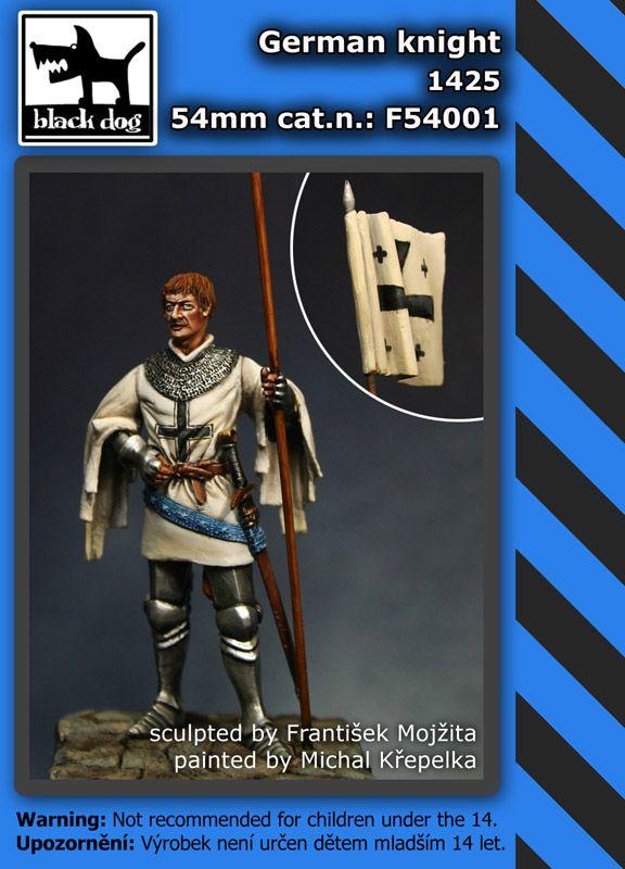 F54001 54mm German knight 1425 Blackdog