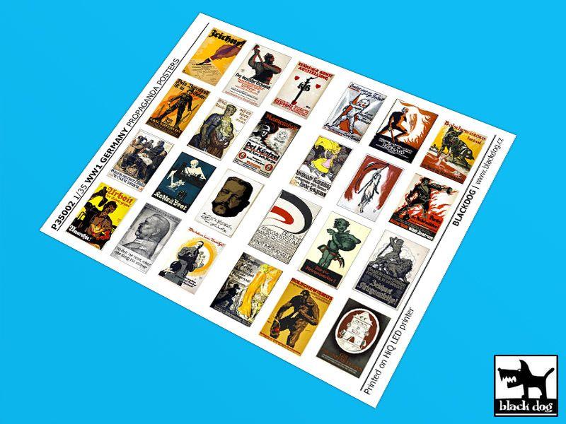 P35002 1/35 WW I Germany Propaganda posters (24 posters) Blackdog