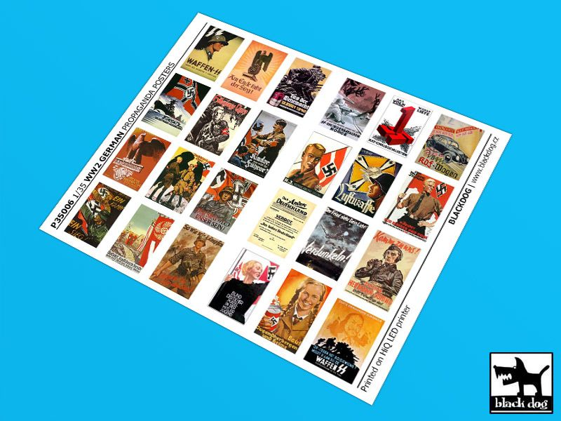 P35005 1/35 WW II U.S Propaganda posters (24 posters) Blackdog