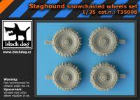 T35008 1/35 Staghound snowchained wheels set Blackdog