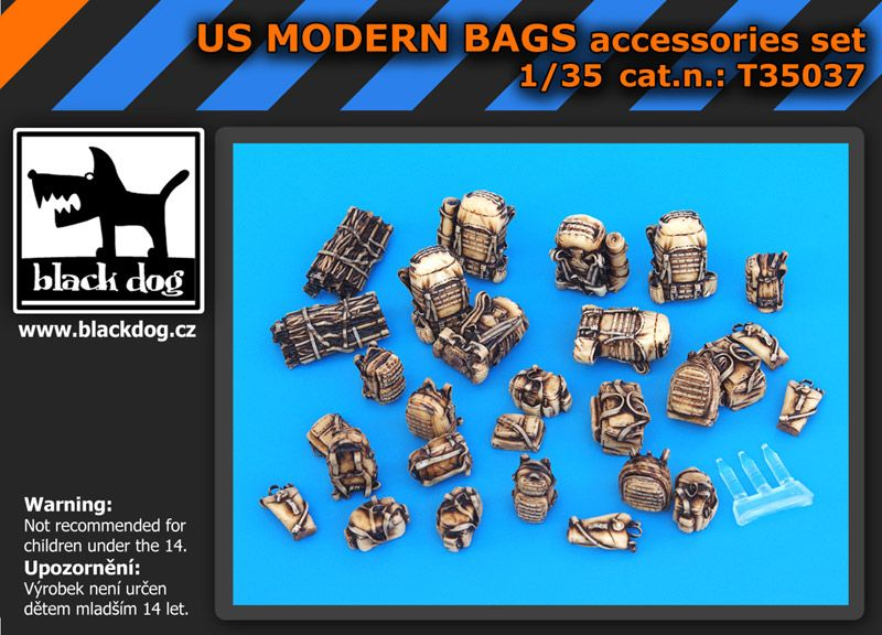 T35037 1/35 US modern bags accessories set Blackdog