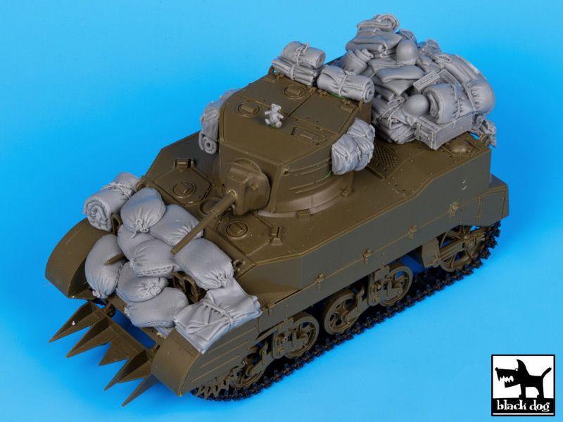 T35056 1/35 M5A1 accessories set Blackdog