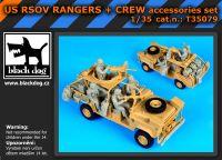 T35079 1/35 US RSOV Rangers plus crew 4fig. Blackdog