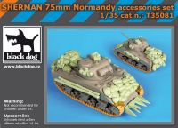 T35081 1/35 Sherman 75mm Normandy accessories set Blackdog