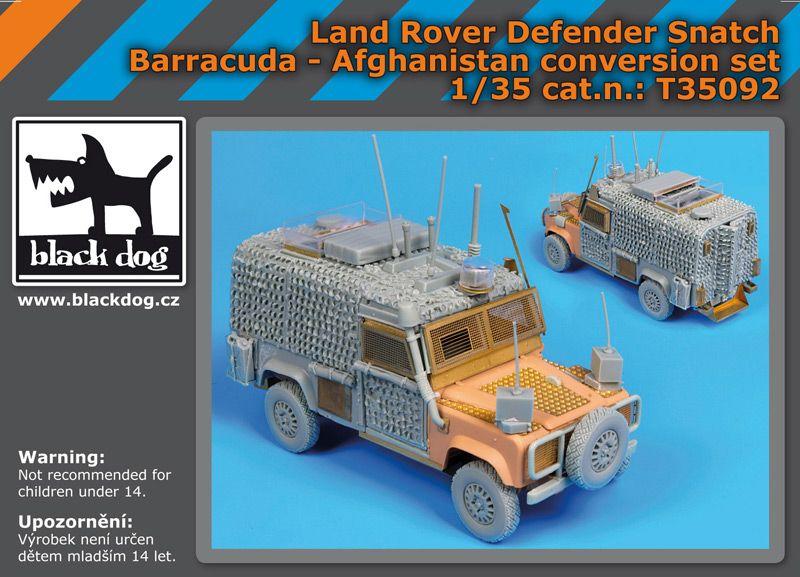 T35092 1/35 Land Rover Defender Snatch Barracuda Blackdog