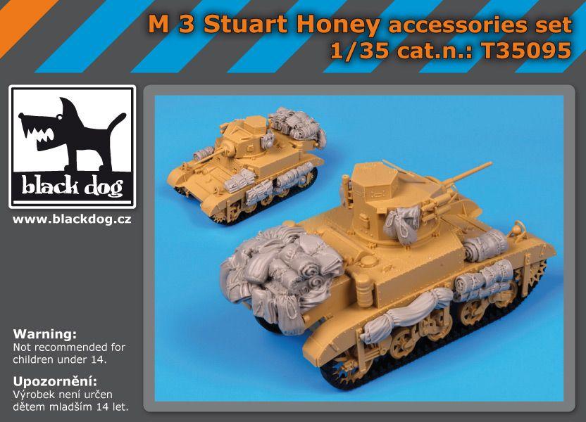 T35095 1/35 M3 Stuart Honey accessories set Blackdog
