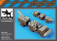 T35110 1/35 British para Jeep before drop accessories set Blackdog