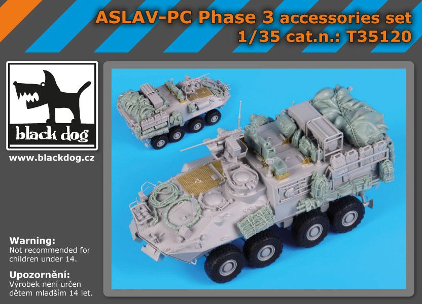 T35120 1/35 ASLAV -PC Phase 3 Blackdog