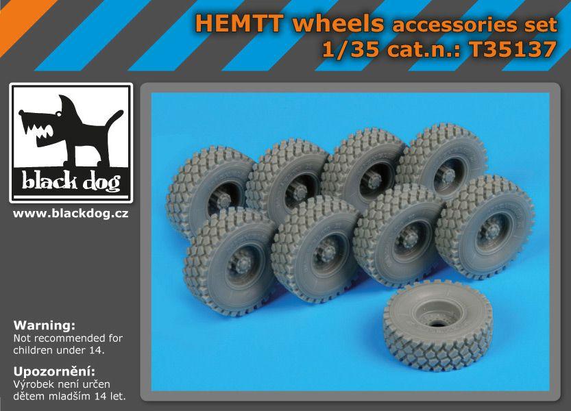 T35137 1/35 Hemtt wheels Blackdog
