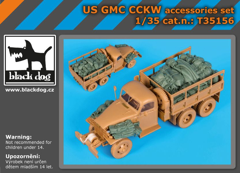 T35156 1/35 US GMC CCKW accessories set Blackdog