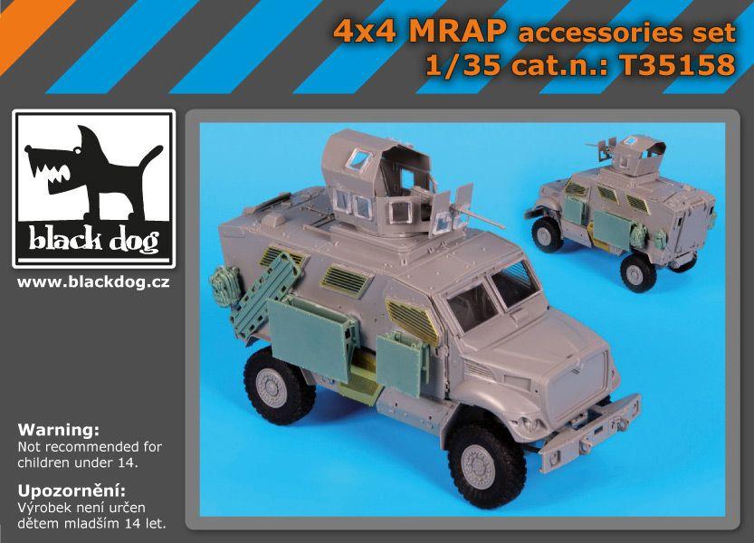 T35158 1/35 4X4 MRAP accessories set Blackdog