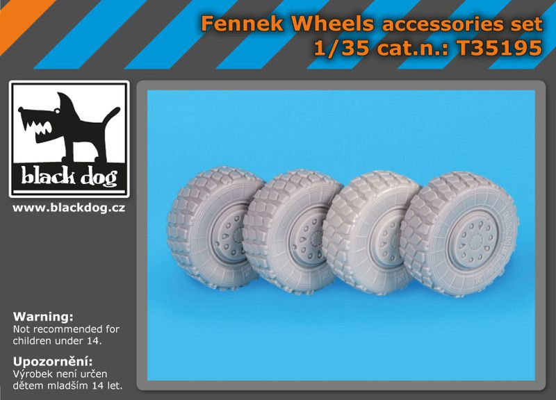 T35195 1/35 Fennek wheels accessories set Blackdog