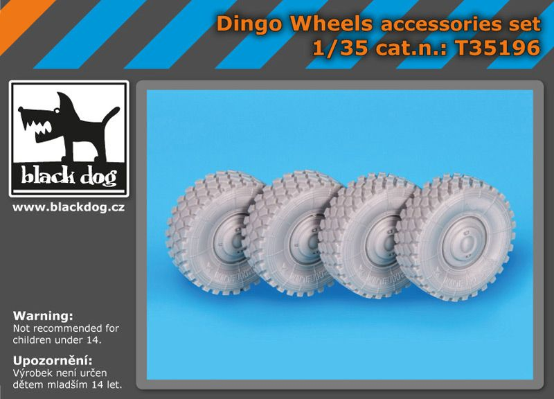 T35196 1/35 Dingo wheels accessories set Blackdog