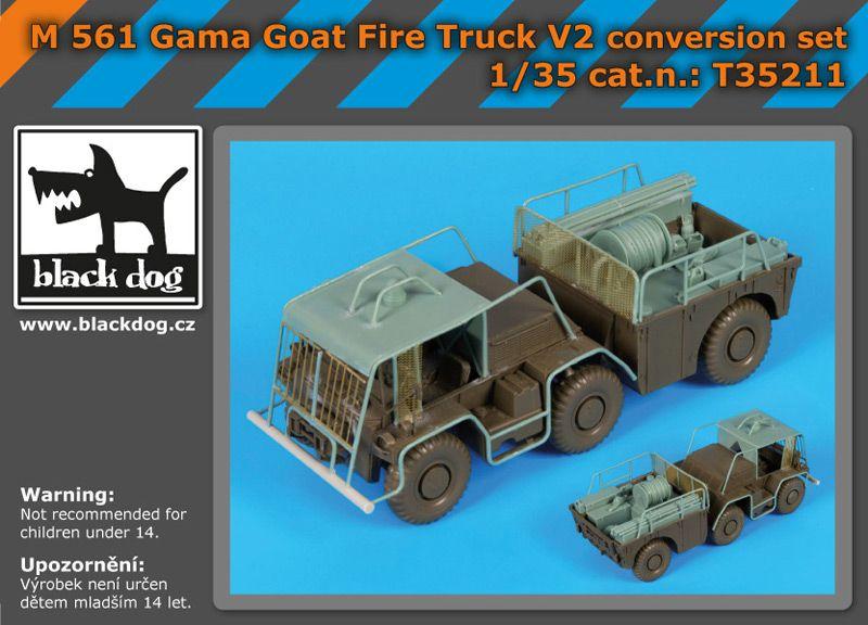 T35211 1/35 M 561 Gama Goat fire truck V2 conversion set Blackdog