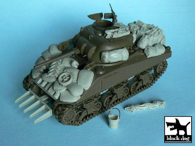 T48003 1/48 US Sherman accessories set Blackdog