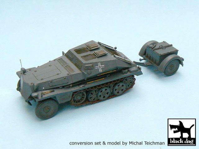 T48009 1/48 Sd.Kfz.252 + Sd.Anh.32 conversion set Blackdog