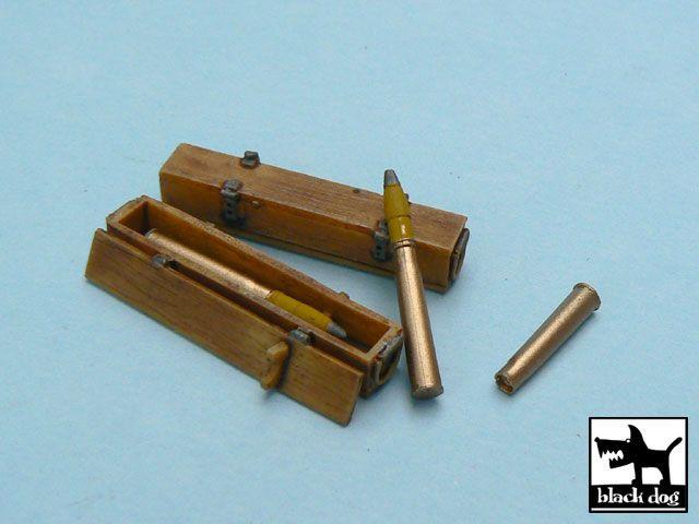 T48012 1/48 Tiger l ammo boxes Blackdog