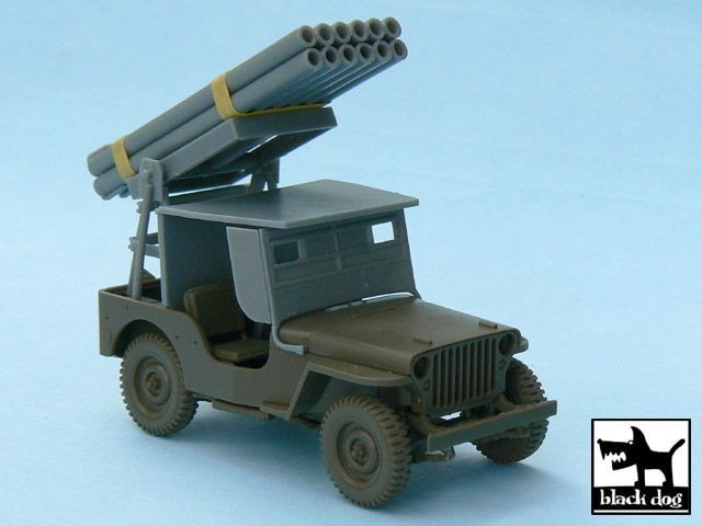 T48027 1/48 Jeep with rocket launcher Blackdog