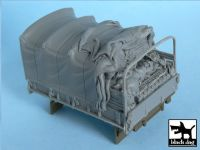 T48051 1/48 US 2 1/2 ton Cargo Truck open cargo bay canvas