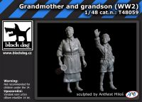T48059 1/48 Grandmother and grandson