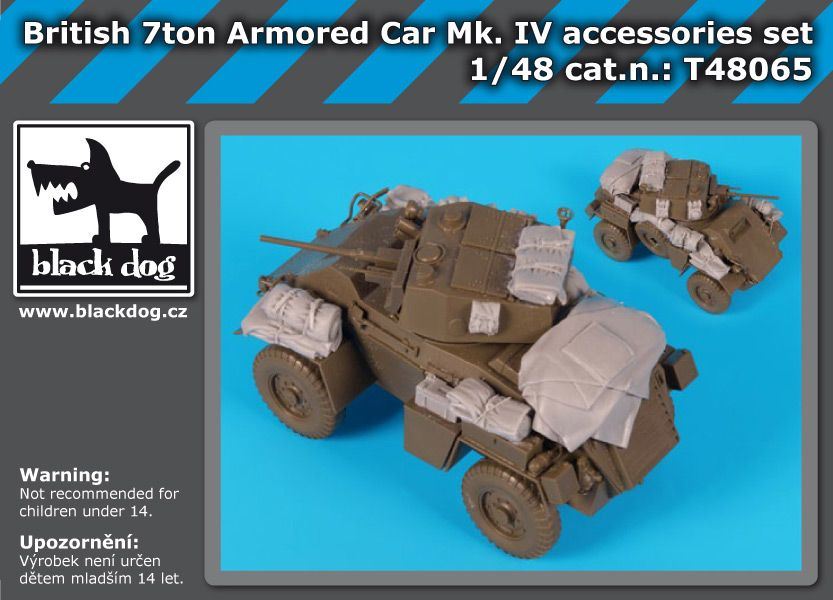 T48065 British 7 ton armored car MK IV accessories set Blackdog